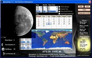 Bulan di Freeware Moonphase 3.1