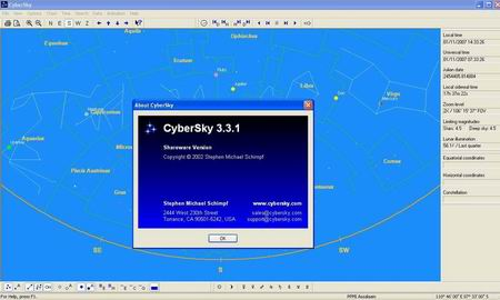 Screenshot CyberSky versi 3.3.1
