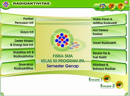 Screenshot Radioaktivitas Interaktif
