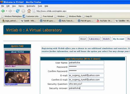 Virtual Laboratory for Teacher