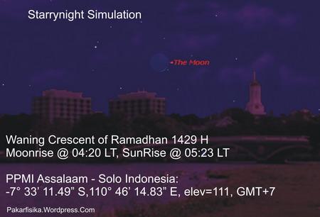 Hilal Tua 28 Ramadhan 1429 H - SNP6