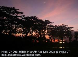 Hilal 27 Dzul-Hijjah 1429 H