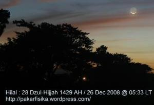 Hilal Tua Dzul-Hijjah 1429 H