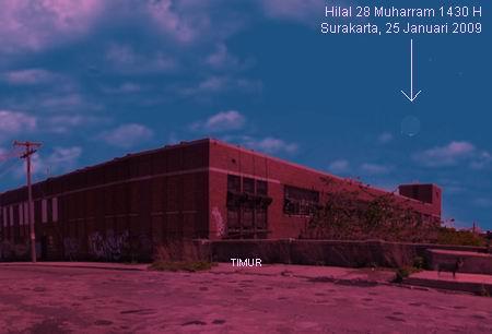 Hilal Tua Muharram 1430 di Solo