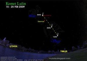 waktu memburu komet Lulin