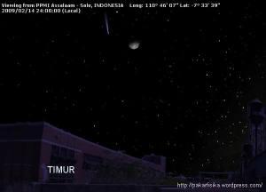 Komet Lulin, di samping Bulan