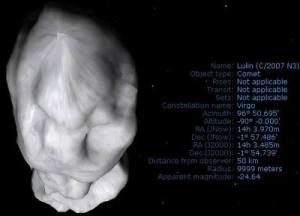 Profile komet Lulin