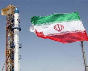 Satelit Omid dan Bendera Iran