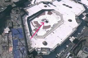 Citra satelit terhadap Masjidil Haram