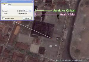 Masjid Agung Demak, arah kiblat & jarak ke Ka'bah