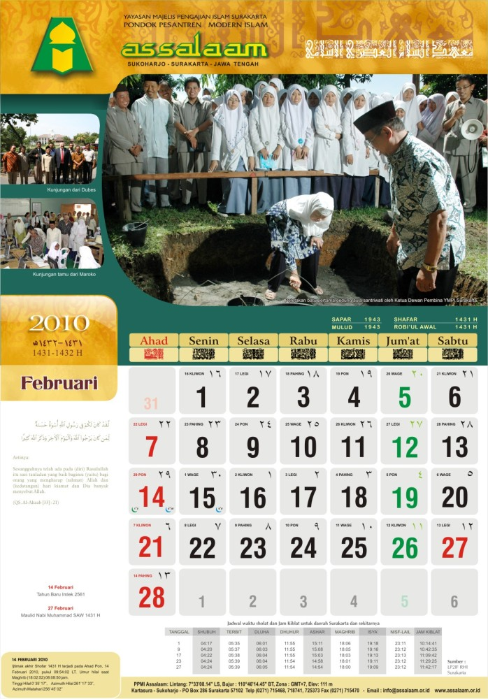 Kalender 2010 M (1431-1432 H) (4/6)