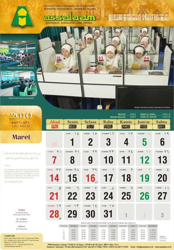 Kalender 2010 M (1431-1432 H) (5/6)