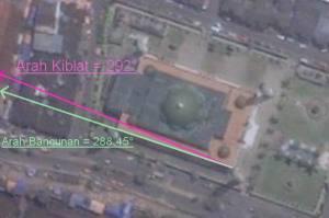 Koreksi Kiblat Masjid Raya Samarinda
