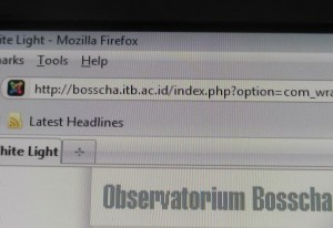 Alamat Teleskop Surya ada di Webnya Bosscha