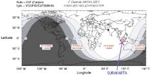Peta Gerhana Bulan Sebagian 2009-2010