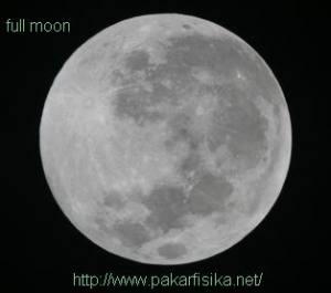 Wajah Bulan Purnama, penuh kawah atau mare