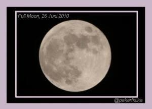 Bulan Purnama 26/06/2010