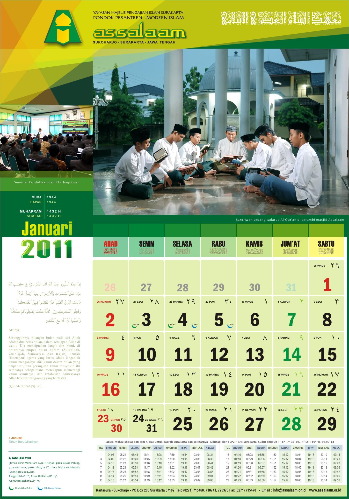 Kalender 2011 PPMI Assalaam – Pak AR ex-guru Fisika
