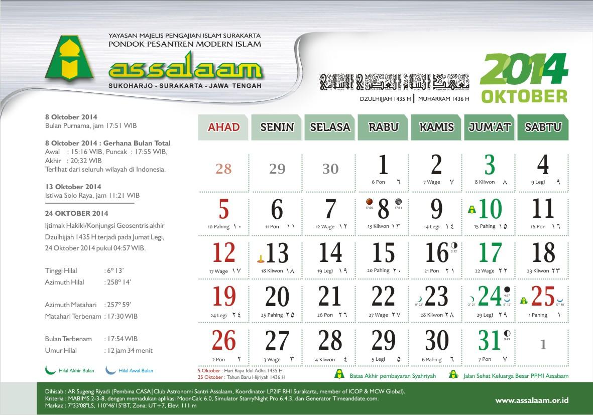 Kalender Meja 2014 Ppmi Assalaam Pakarfisika 10 Okt Pak Ar Guru Fisika