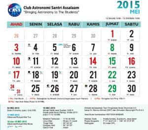 Kalender Mei 2015