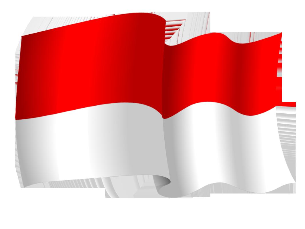 Bendera Merah Putih Berkibar Tahun Indonesia Merdeka