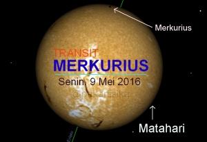 Transit Merkurius 2016 dari Medan