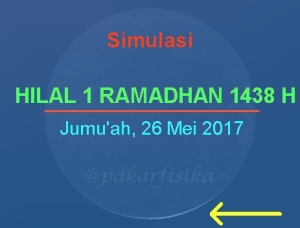 Simulasi Hilal Ramadhan 1438 H