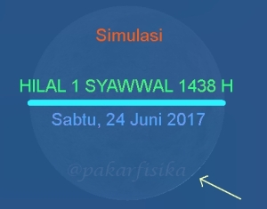 Simulasi Hilal Syawwal 1438 H